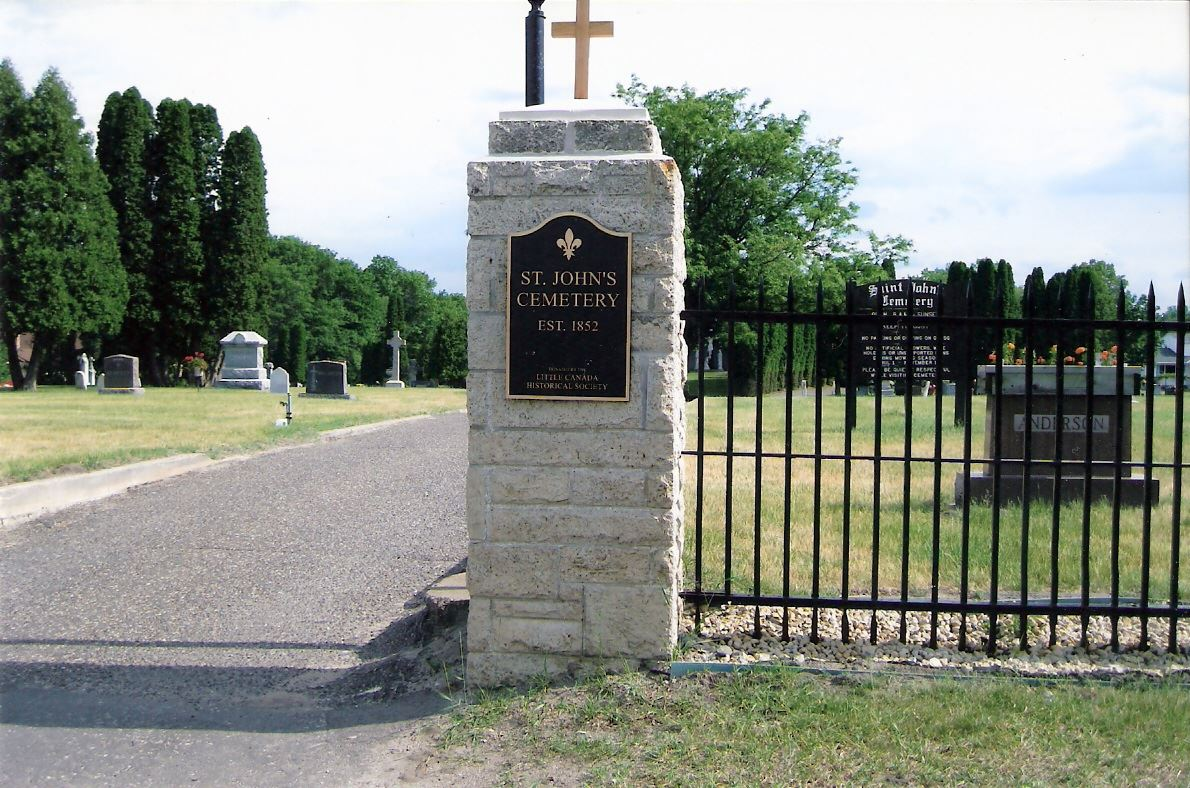 St. Johns Cemetery Entrance
